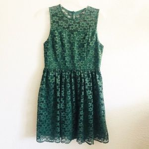 Altar'd State Olive green Lace dress size large